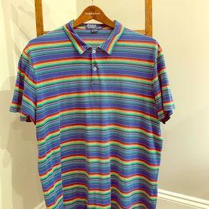Blue striped Polo Sport shirt